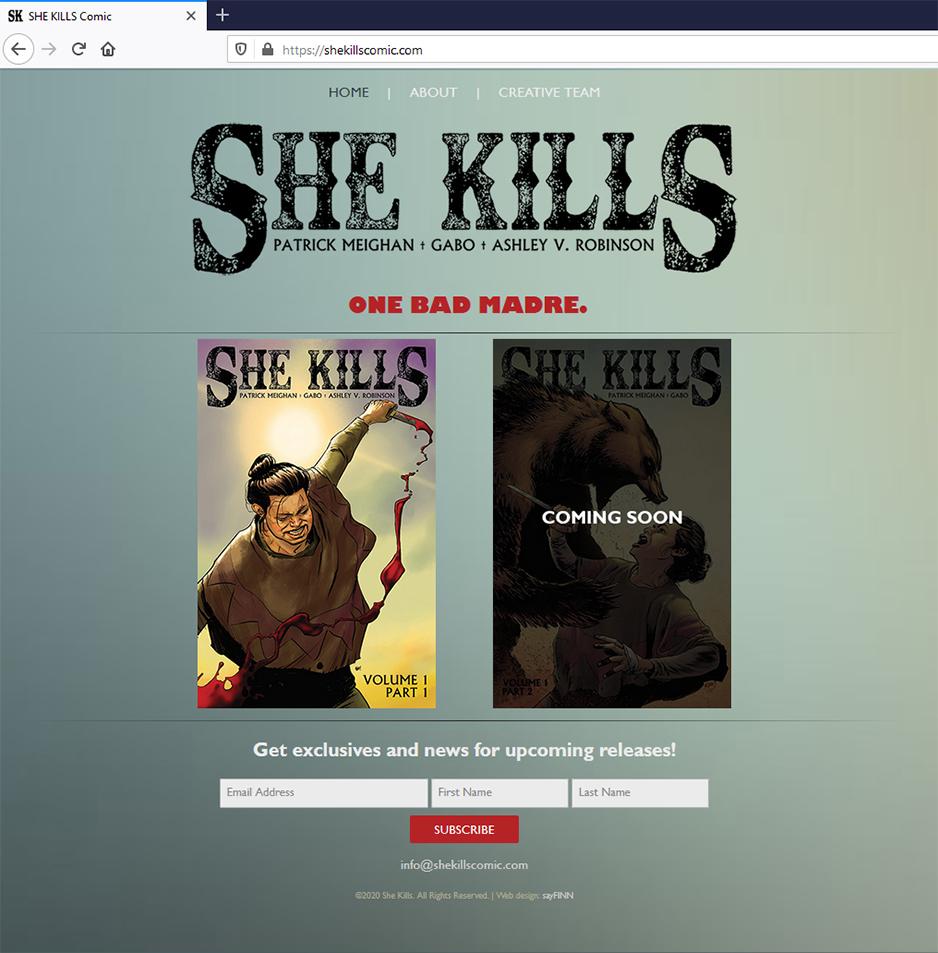 She Kills Comic